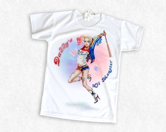 "Harley Quinn Jump / Suicide Squad 2016 / ""Daddy's Lil Monster"" Girl's T-Shirt"