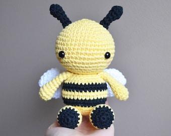 Fern the Bee - Crochet Bumble Bee Toy, Bumble Bee Amigurumi, Stuffed Animal