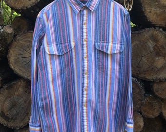 Super Rad Vintage 90s Thick Button Up by Impact Sz L USED