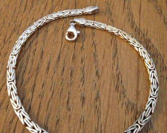 """Milor Sterling Silver Bracelet 9"""""""