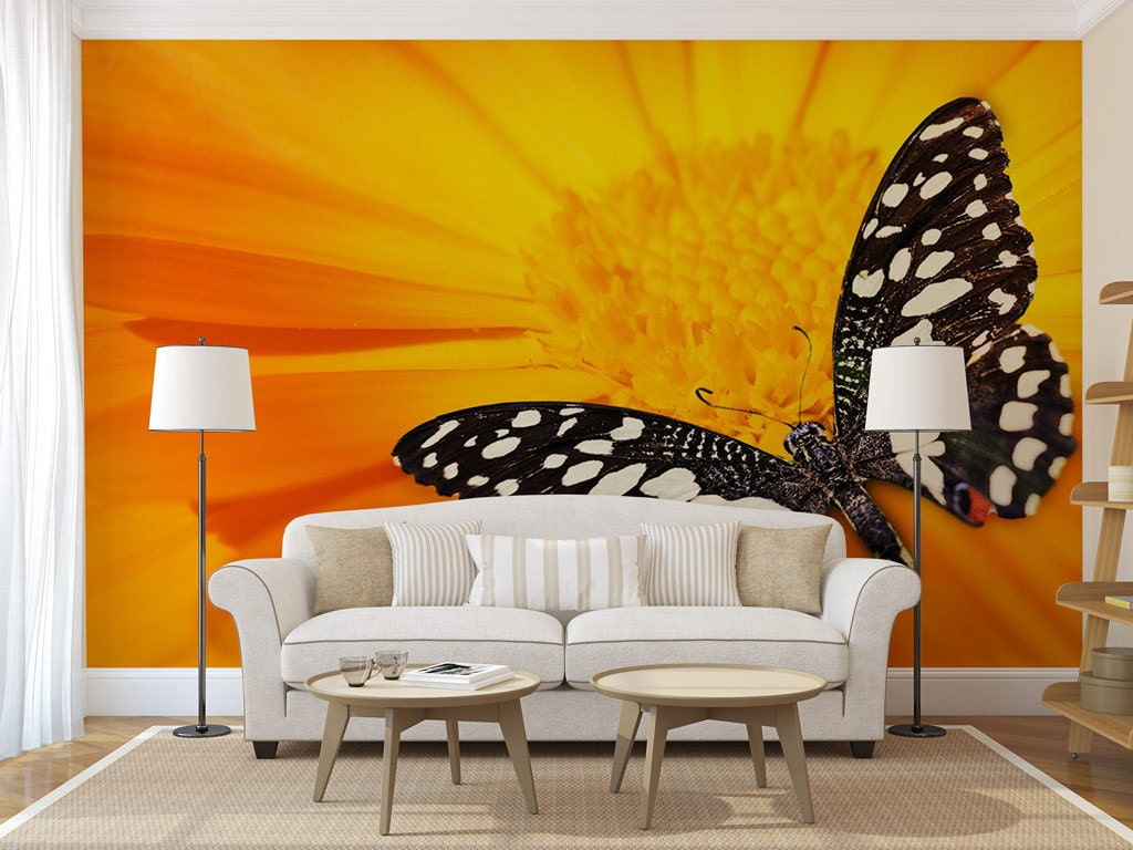 Butterfly Wall Mural, self adhesive photo mural, peel & stick wall ...