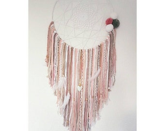 Bohemia XXL Pale pink dream catcher