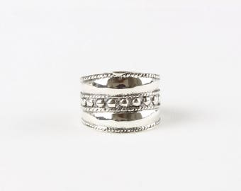 Sterling Silver Dotted Ring / Silver Statement Ring / Boho Ring / WSR16