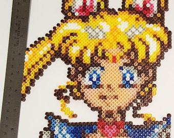 Super Sailor Moon Perler Portrait