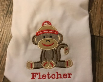 Sock Monkey Birthday Shirt