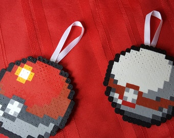 Pokeball Inspired Christmas Ornaments