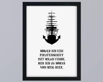 Pirate ship anchor - unframed art print