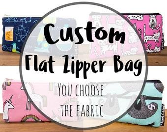 Custom Flat Zipper Bag