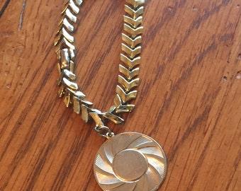 Vintage Coro Gold-Tone Sunburst Charm Bracelet