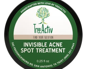 TreeActiv Invisible Acne Spot Treatment, Clear All-Natural Blemish Cream