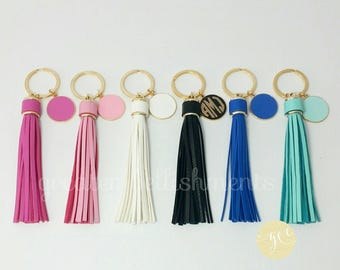 Monogrammed Keychain with Tassel, Mother's Day Gift, Bridal Party Gift, Bar and  Bat Mitzvah Favor