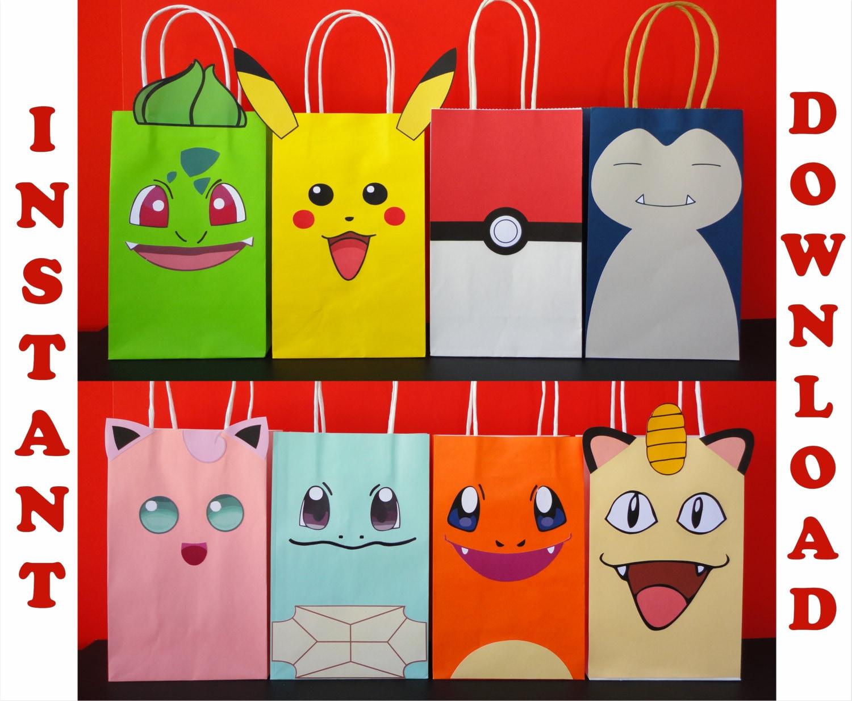 Pokemon Favor Bags/ DIY Pokemon Birthday By