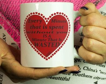 Valentine mug heart taza 11oz