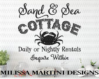 Beach Quote, Ocean, Beach House, Summer Vacation, Gift, SVG, DXF, Cut File for Silhouette Cricut