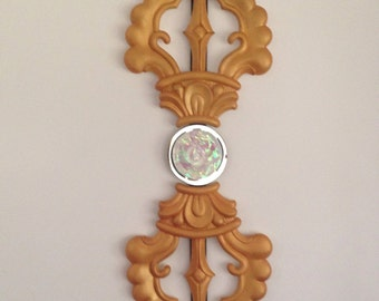 Single dorje/ vajra sculptural wall hanging for indoor/outdoor application