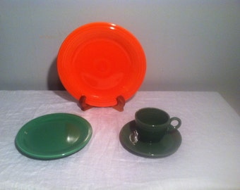 RESERVED Vintage Fiestware in Brilliant and Bold Colors
