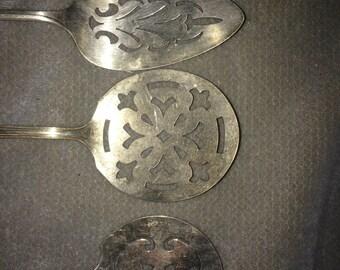 Vintage Silver Plated Spatulas - Set of Three