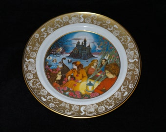 "1978 Franklin Porcelain Grimm's Fairy Tales ""Twelve Dancing Princesses"" Collector Plate"