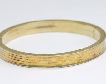 Beautiful vintage gold plated bangle/vermeil bangle bracelet/vintage bangle bracelet/gold bracelet/sterling silver bracelet/gift for her