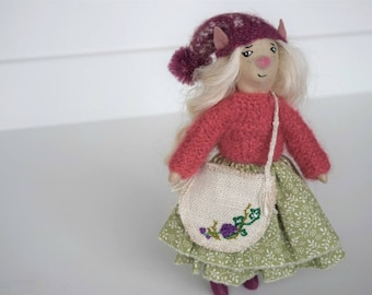 Willow,elf doll, handmade doll, doll for sale,