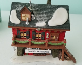 FREE SHIPPING, Department 56 Santa's Woodworks