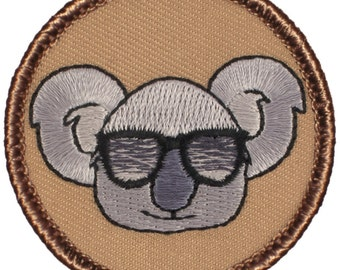 Cool Koala Patch (623) 2 Inch Diameter Embroidered Patch