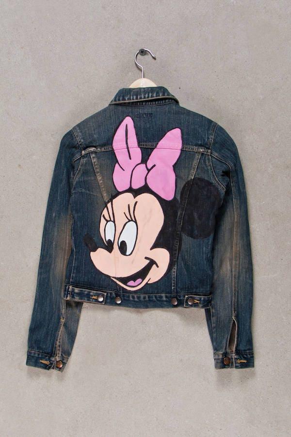 Denim Jacket Minnie Mouse Jeans Vintage Hand Painted Deklekt