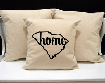 South Carolina Home Pillow, South Carolina Pillow, home pillow, pillow gift, South Carolina gift, state pillow, SC pillow, 20x20 pillow