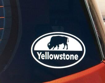 Yellowstone National Park (buffalo) vinyl car window decal/sticker