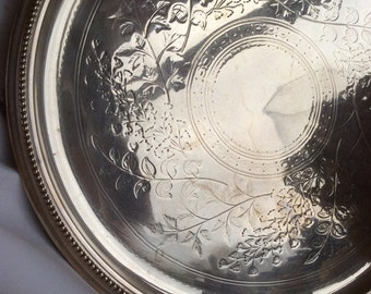 Vintage silver plate serving tray