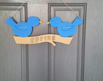 Spring Birds Door Hanger