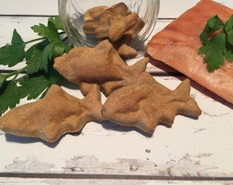 Fish Nibbles - All Natural Dog Treats - No Preservatives- Delicious - Healthy - Homemade - Salmon
