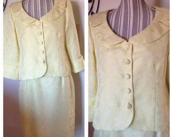 Lovely Vintage Ladies Yellow Suit