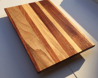 Birch and mahogany cutting board