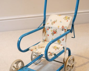 Beautiful & all Original Vintage 1950s Doll/Toy Pushchair by Bantel