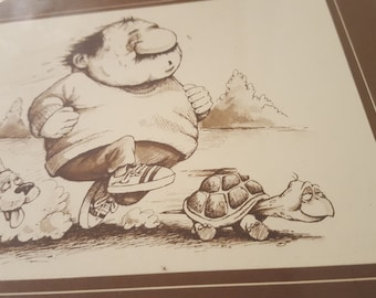ON SALE, Gary Patterson, Small Plaque, The Jogger, Patterson Plaque, Patterson Running, Patterson Pets, Animals Running, Sports Print