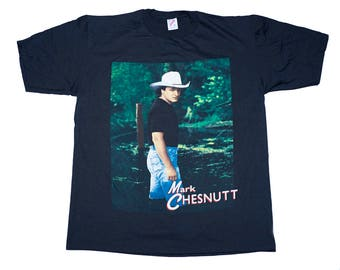 Vintage Mark Chesnutt What a Way to Live!! Tee XL