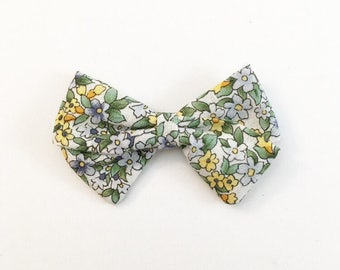 Spring Vintage Floral Classic Bow - Baby Bows - Baby Hair Clips - Baby Headbands - Toddler Headband - Baby Hair Bows - Hair Bows