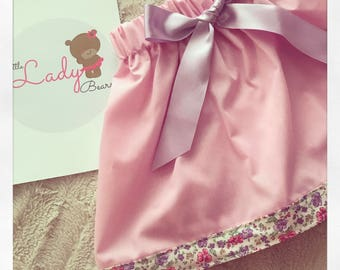 Girls Floral trim skirt