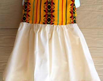 Mexican Sarape Print Toddler Dress