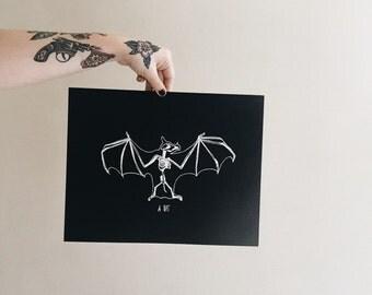A Bat Print | 11 x 14