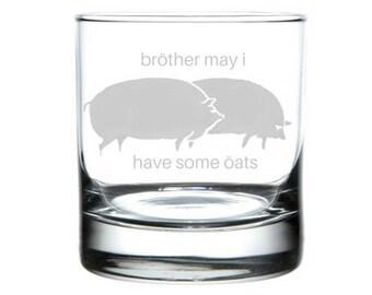 Brother May I have some oats meme rocks glass, internet meme glass, 4chan gifts, dank meme present, pig oats meme