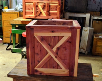 Cedar Box, Flower Planter, Cedar Flower Box, Shrub Planter, Cedar Flower Planter,