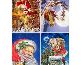 Christmas paper, Decoupage paper, vintage cards, children
