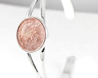 UK Lucky Penny Bracelet Bangle Year 1971 to Present
