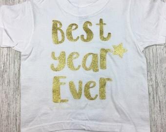 Birthday T Shirt, kids, toddler t shirt, Best year ever, personalised, custom, photo prop