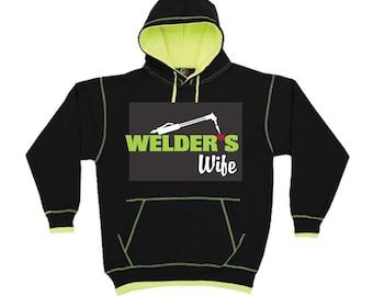 Welder' Wife Hoodie-Welder Hoodie