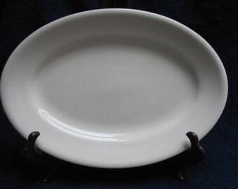 "Buffalo China White Ironstone Restaurant Ware 10 1/2"" Platter Prim Shabby Country Cottage Chic"