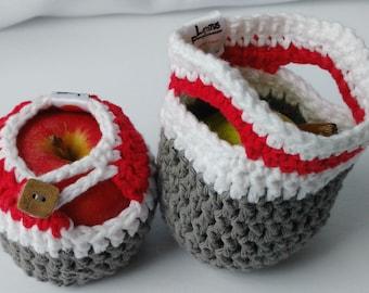 Apple cozy Fruit cozy Handmade Crochet - apple cosy - Lunch bag buddy- Bas de laine pour pomme