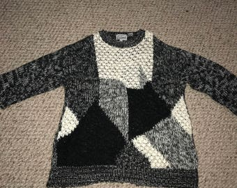 Black & White Vintage Knit Jumper Sweater